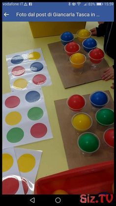 Motor Skills Activities, Preschool Learning Activities, Color Activities, Sensory Activities, Infant Activities, Preschool Activities, Montessori Kindergarten, Montessori Infant, Kids Education