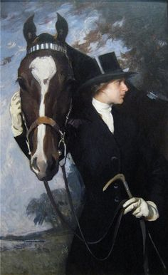"""Equestrian art by Edmund Charles Tarbell - """"Mary and New Castle Poppy"""" - 1926 - Baltimore Museum of Art Painted Horses, Equine Art, Equestrian Style, Equestrian Decor, Horse Art, Illustrations, Oeuvre D'art, American Art, Art History"""