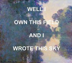 Fine Art Wall Print, Laura Marling Quote, Song Lyrics, Music Artwork Poster, Folk Music, Claude Monet, 8x10