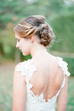 Lovely lace & scooped back: http://www.stylemepretty.com/2014/06/24/autumn-barn-wedding-in-the-hamptons/   Photography: Brklyn View Photography - http://www.brklynview.com/