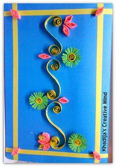 Paper Quilling Card Tutorial (Handmade Eid Card)