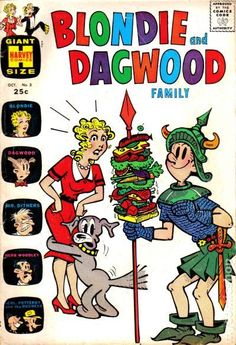 Blondie and Dagwood Family (1963) #3 vintage comic book cover / Dagwood the Knight in Shining Armor.
