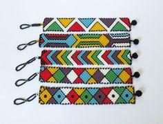 Zulu africano con cuentas pulsera plana por GoneRuralSafariCurio