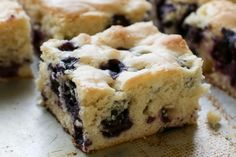 Blueberry Snack Cake - traditional and gluten free recipes by Barefeet In The Kitchen