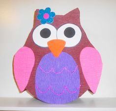 Owl Pinata. 1st Birthday Owl decoration. Owls party theme. Owl Baby Shower. Birthday girl decorations on Etsy, 13,34 €