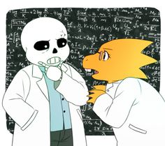"""by adricarra-art """"The science squad! Science Sans, Science Fiction, Bad Puns, Toby Fox, Undertale Au, Beautiful Day, Cute Art, Squad, Disney Characters"""