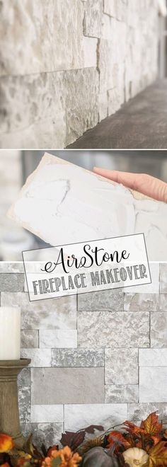 Gorgeous DIY Faux Stone Fireplace Makeover Gorgeous DIY Faux Stone Fireplace Makeover with a step-by-step tutorial on how you can makeover your own fireplace with this beautiful faux stone.