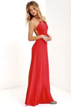 Red Backless Maxi Dress || Shop @ CollectiveStyles.com
