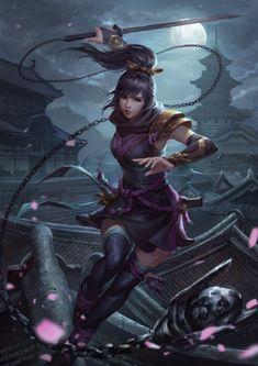 Fantasy Art Women, Beautiful Fantasy Art, Fantasy Girl, Anime Fantasy, Fantasy Character Design, Character Design Inspiration, Character Art, Arte Ninja, Ninja Art