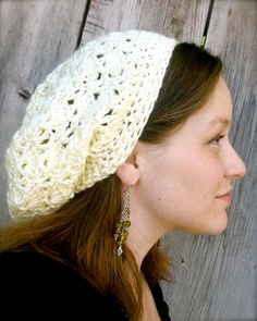 Slouchy Hat in cream