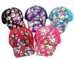 Embroidery Fun Baseball Snapback Cap Adult Unisex Floral Print Hip Hop NEW   Unbranded  BaseballCap ae598afb925c