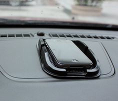 Black Car Dashboard Sticky Pad - Anti-Slip Mat for GPS or Mobile Phones