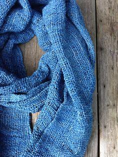 organic Indigo blue shawl