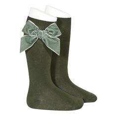 Green Socks, Boys Socks, Lace Socks, Children's Boutique, Winter Kids, Knee High Socks, Winter Colors, Traditional Outfits, Velvet