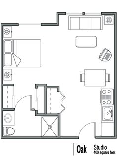 Efficiency Apartment Floor Plan 400 sq ft apartment floor plan - google search | 400 sq ft