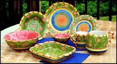Nice bright colors. I can hardly wait to start creating my own pieces in my pottery shed.