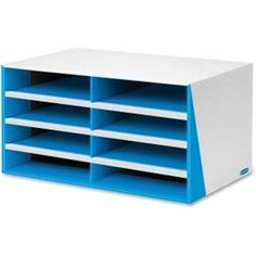 Fellowes Bankers Box 8-Compartment Sorter. Blue