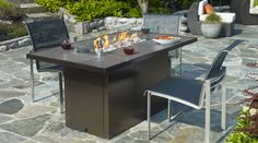 Outdoor Gas Firetable Plateau PTO30 Island - Regency Fireplace Products