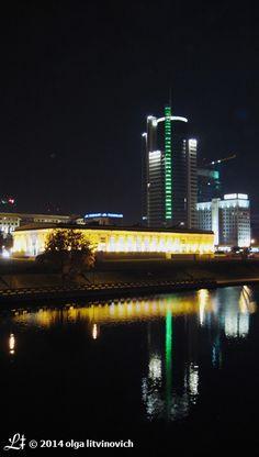 #Minsk at night and #SvislachRiver