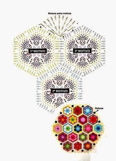 Crochet: Crochet rug. African flower pattern.