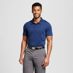 Men's Golf Polo Shirt Dark Blue Space Dye XL - C9 Champion