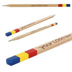 Creion TRICOLOR Produse personalizabile Papetarie.ro - Papetarie.ro Art Supplies, Pencil, Tableware, Dinnerware, Tablewares, Dishes, Place Settings