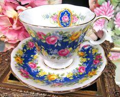 ~ ROYAL ALBERT TEA CUP AND SAUCER GARLAND SERIES TEACUP ADORATION ROSE BLUE in Antiques, Decorative Arts, Ceramics & Porcelain, Cups & Saucers   eBay ...