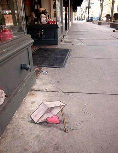 Street Art - David Zinn - Sluggo