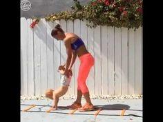 Mamãe e bebê entrando em forma