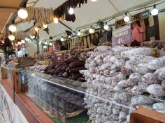 Saucisson market in France.