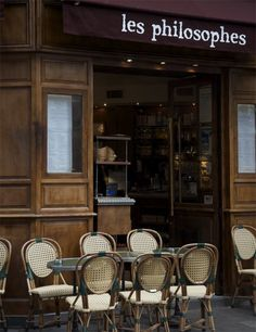 Les Philosophes, Paris, France by Nichole Robertson French Cafe, French Bistro, Tour Eiffel, Travel Around The World, Around The Worlds, Café Bistro, Le Marais Paris, Tuileries Paris, Viajes