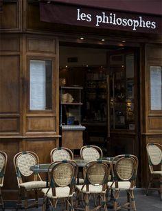 Café Les Philosophes,28 Rue Vieille du Temple, Paris 4e.