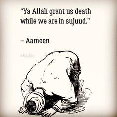 Ya Rabb! Ameen!   #Sujood #Death #Islam