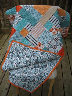 baby quilt -- love the colors!