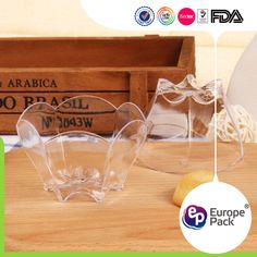 Plastic Decorative Bowls Top Sell Funny Special Clear Dessert Cake Plastic Egg Cup For