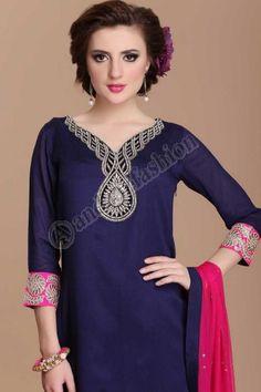 Blue color shalwar kameez