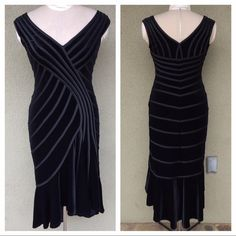 Tadashi Shoji Dresses & Skirts - Tadashi velvet high-low midi evening dress