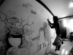 MURAL ! whataday in the garden with animals by ivana flores, via Behance