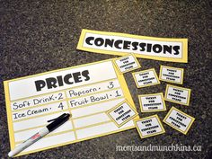 Free Printables to use for Family Movie Night.  Love this idea!!  Kids can earn tickets throughout the week to spend on movie night.  These would be great reading incentives, good behavior rewards, etc.  Love it!