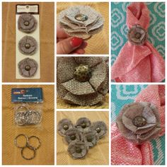 Make your own Easy DIY Napkin Rings! Supplies for 6 napkin rings were purchased from Michaels Craft Store for a total of $10.