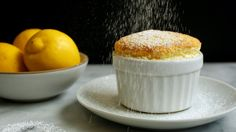 "This soufflé adapted from Mark Bittman's famous tome ""How to Cook Everything"" is rich fluffy and very easy You can also make orange or Grand Marnier variations If you want to make individual soufflés use a little more butter and grease four 1 to ramekins. Lemon Souffle Recipe, Souffle Dish, Souffle Recipes, Gourmet Recipes, Dessert Recipes, Cooking Recipes, Easy Recipes, Healthy Recipes, Flan"