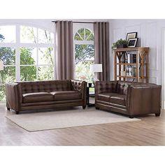 Belmond 2-piece Top Grain Leather Set - Sofa, Loveseat