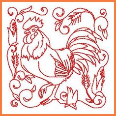 In-the-hoop Rooster Coasters - Free Instant Machine Embroidery Designs