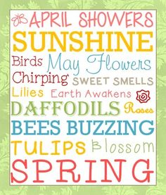 Spring Subway Art Printable - comes as a PDF file with 3 different backgrounds to choose from. $1
