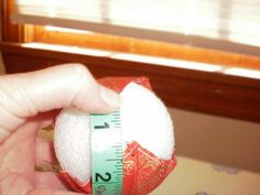 how to put quilted ball ornaments together