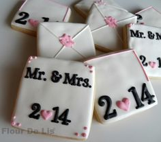 Valentine Love Note Cookies, by Flour De Lis [photo for inspiration only]  #DecoratedCookies #Cookies