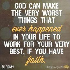 Having faith is powerful