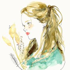 エメラルドグリーンな気分 . . #イラスト #ガールズイラスト #illustration - 91miyo Illustration Sketches, Art Sketches, Cute Pastel Wallpaper, Fashion Design Drawings, Sketch Painting, Color Of Life, Watercolor Art, Illustrators, Anime Art