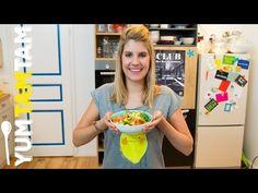 Bunte Lachs-Bowl mit Süßkartoffel und Avocado