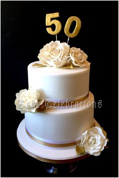Cake Celebrations create distinctive wedding cakes and celebration cakes that are works of art. Based near Martock in Somerset we provide a cake design service locally and nationally. 50th Wedding Anniversary Cakes, 50 Anniversary, Anniversary Parties, 50th Birthday Party Themes, 50th Party, Wedding Gold, Party Wedding, Beautiful Cakes, Amazing Cakes